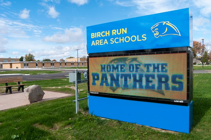 Birch Run Area Schools Sign