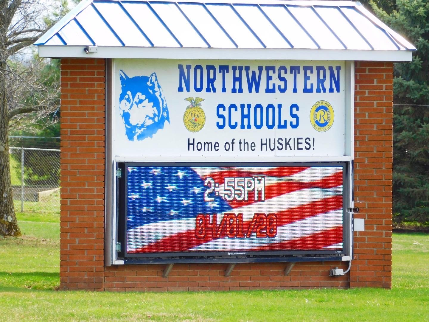 Northwestern Schools Upgrade to LED Fusion Display after Storm Damages