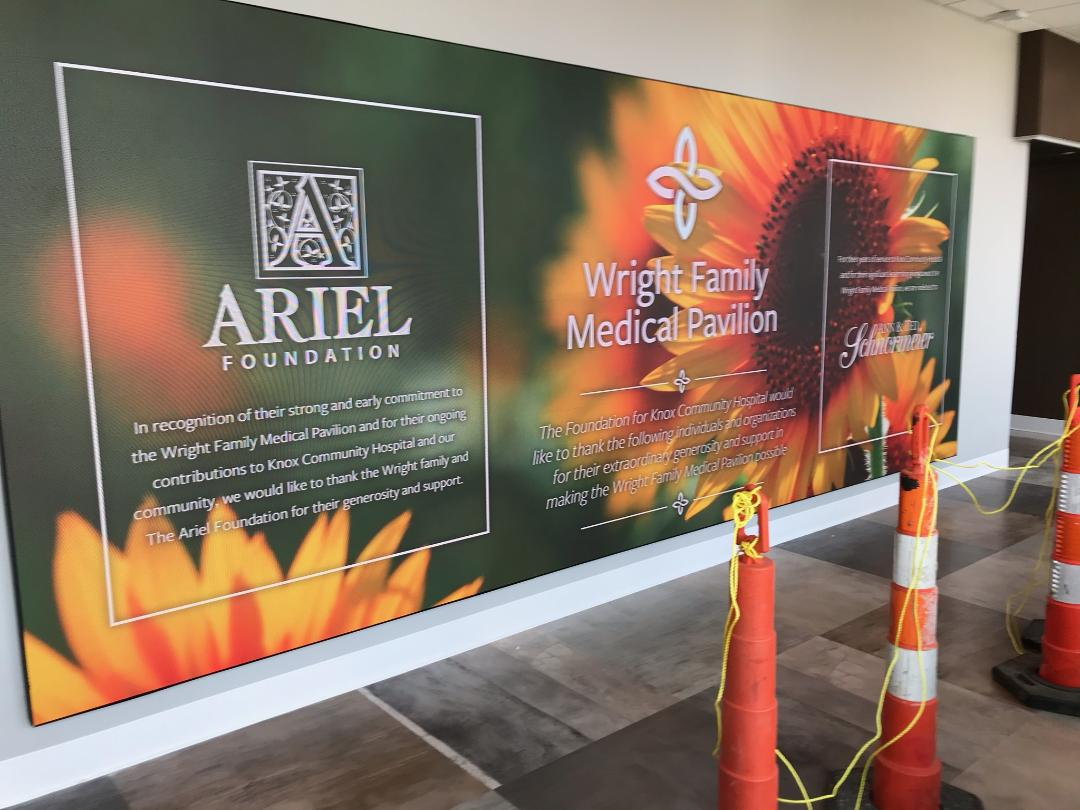 Knox Community Hospital Honors Donors with new LED Display