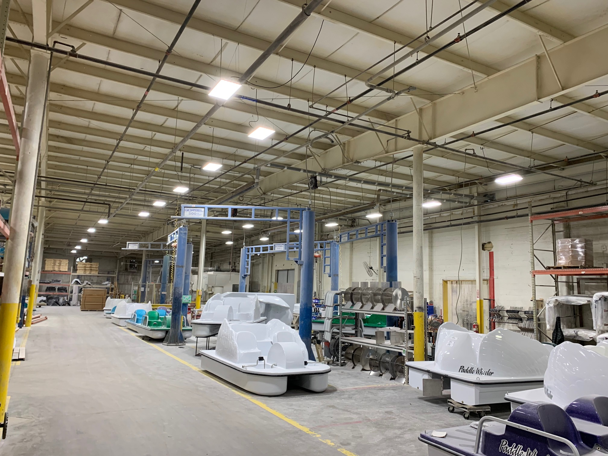 Great Lakes Composites Saves $50,000 per year with new LED Lighting