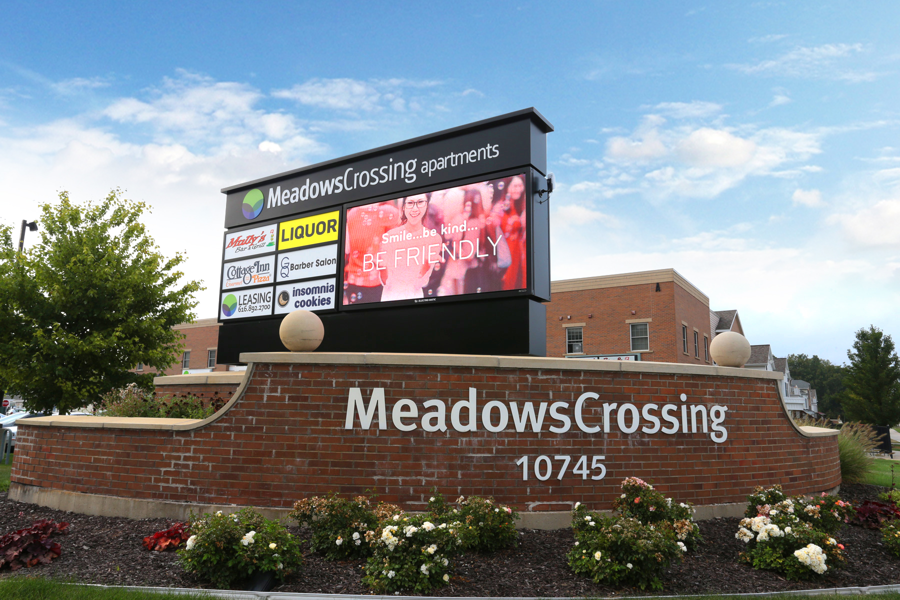 New 6mm LED Sign at Meadows Crossing Results in Higher Sales Revenue
