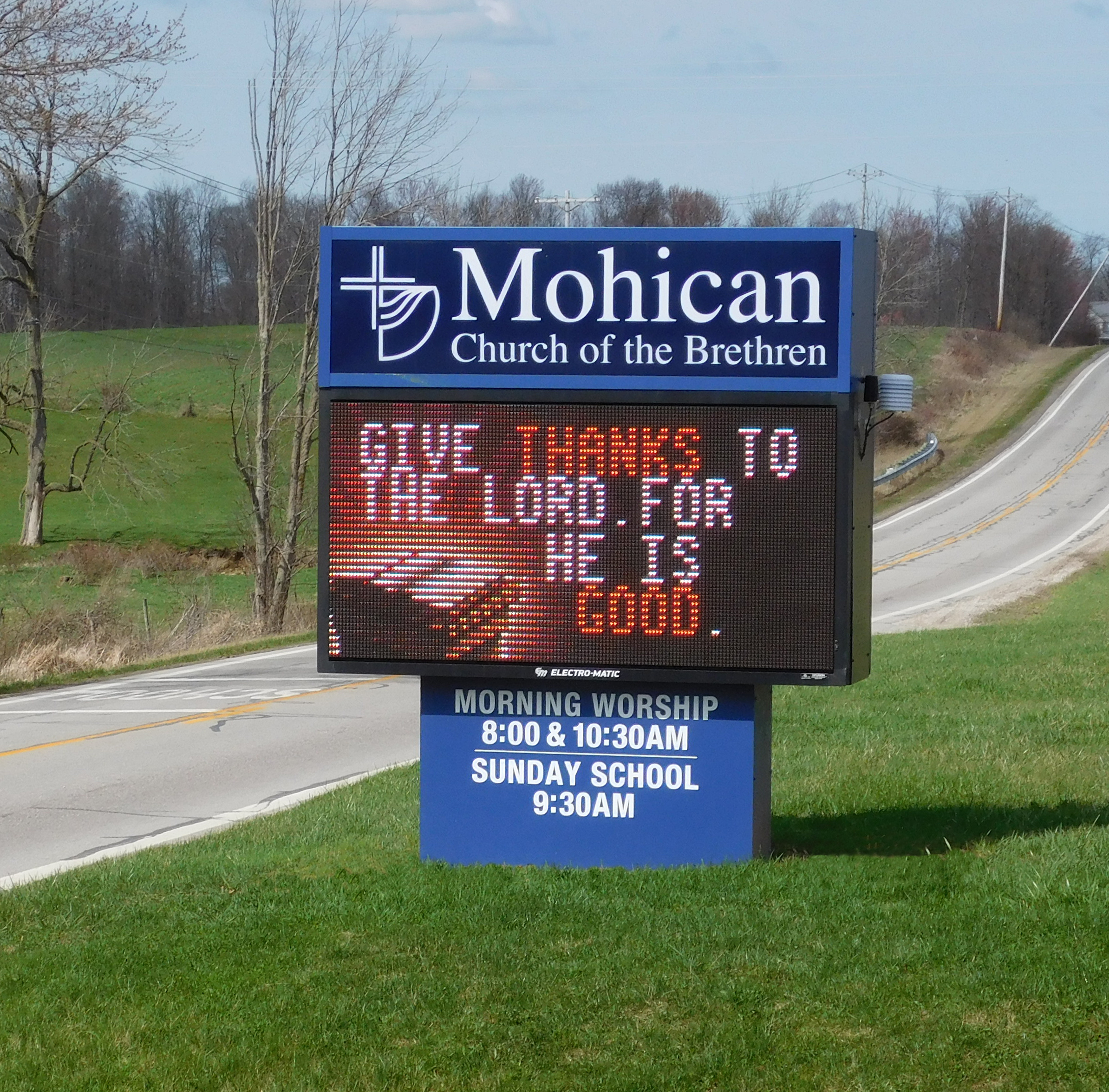 Mohican Church of the Brethren Upgrades to EM 11mm Fusion Display